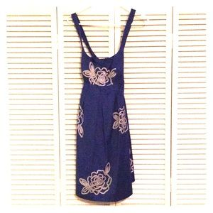 Royal blue dress with silver beading size 4